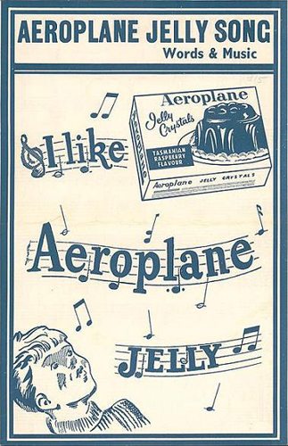 The sheet music for I Like Aeroplane Jelly