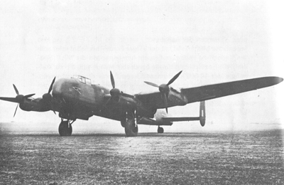 A converted Avro Lancaster bomber used by BOAC post Second World War