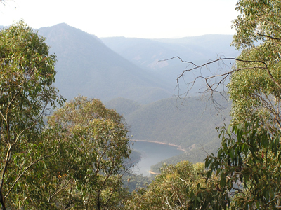 Talbingo Dam, part of the Snowy Mountains Scheme