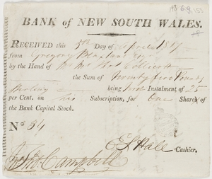 The Bank of New South Wales_1810