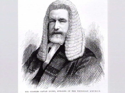 Sir Charles Gavan Duffy, Speaker of the Victorian Assembly